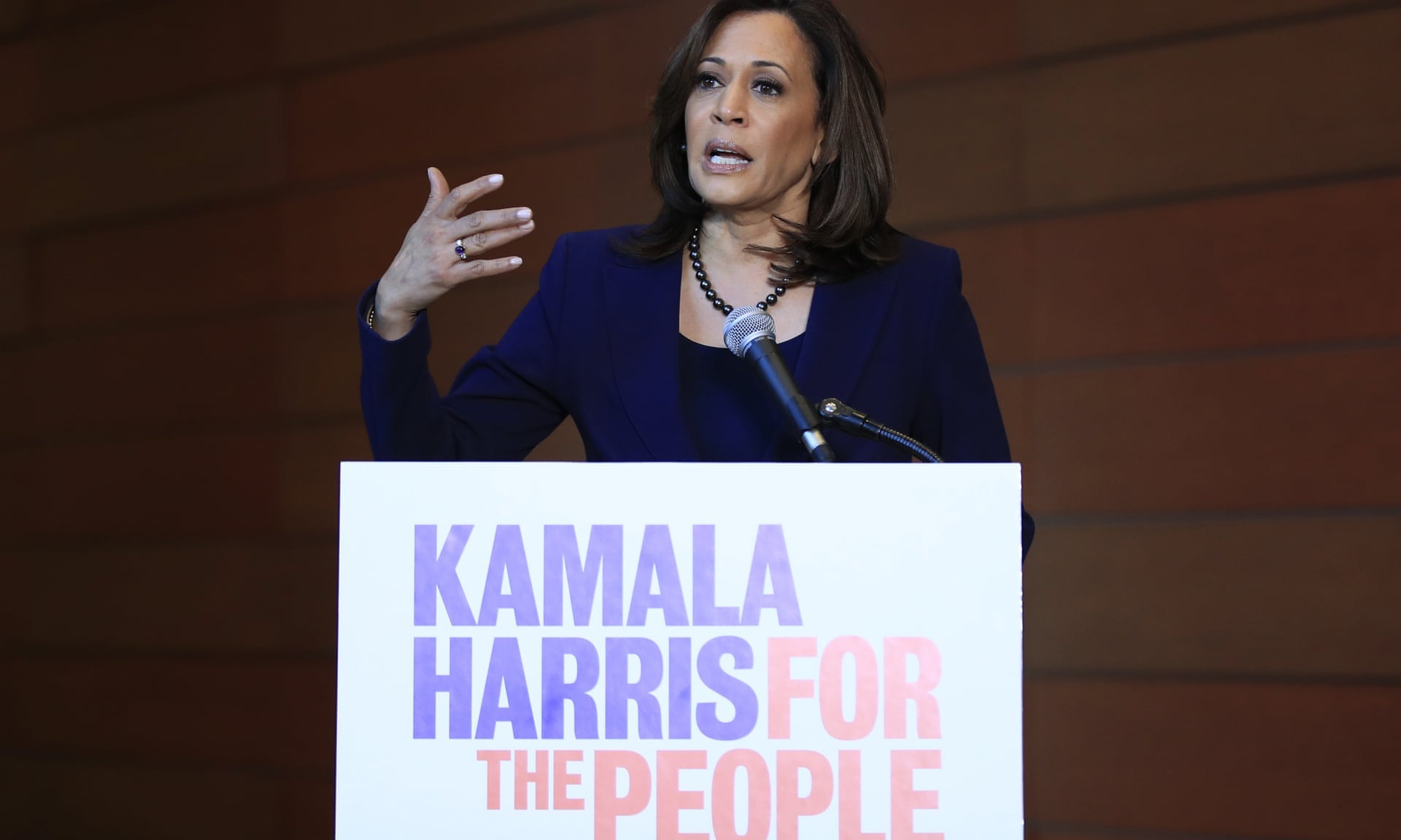 Kamala Harris decided to run for presidential elections.