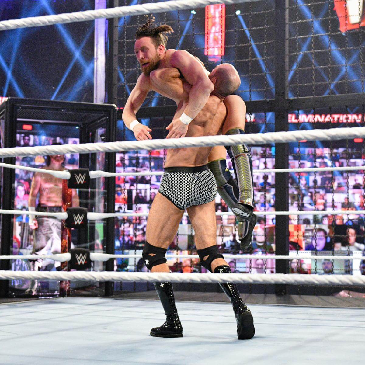 Daniel Bryan and Cesaro kicked-off the SmackDown Elimination Chamber match